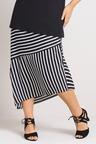 Plus Size - Sara Asymmetric Stripe Skirt