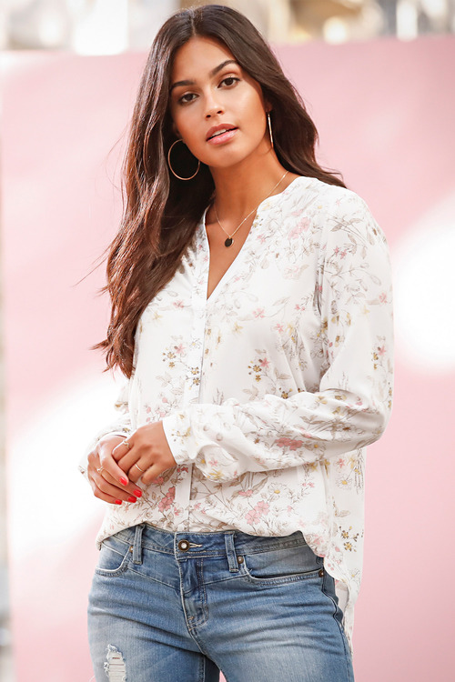 Urban Relaxed Floral Print Shirt
