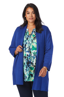 Plus Size - Beme 3/4 Sleeve Cardigan