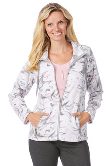 Noni B Darwin Jacket Fleece Printed