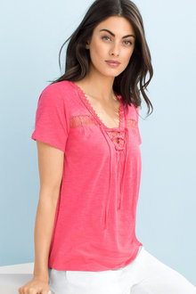 Capture Lace Trim Tee