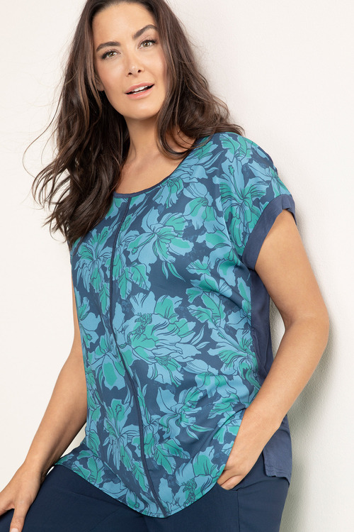 Plus Size - Sara Knit Back Shell Top