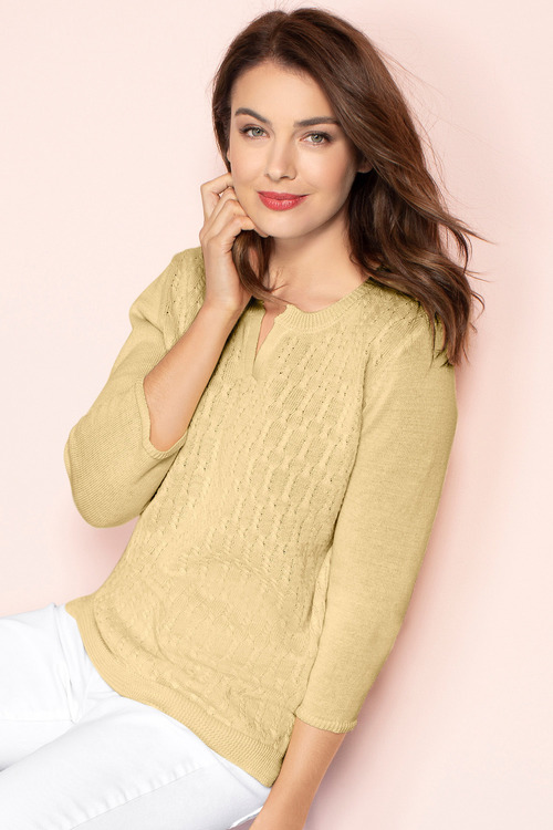 Capture Linen Cable Knit Sweater