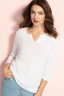 Capture Linen Cable Knit Sweater