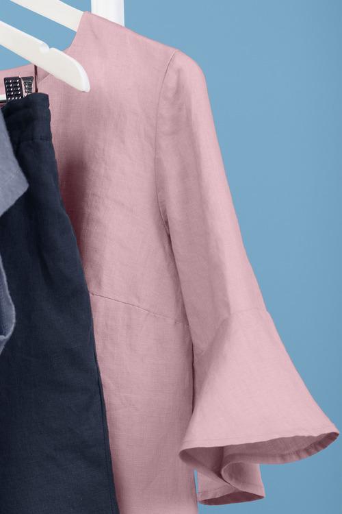 Emerge Notch Neck Linen Dress