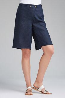 Grace Hill Long Linen Shorts - 205835