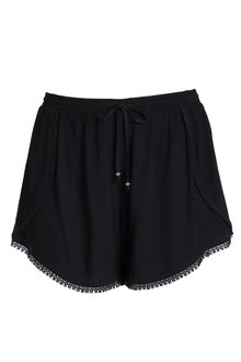 Plus Size - Sara Cotton Crinkle Shorts