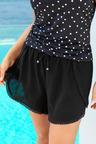 Plus Size - Sara Cotton Crinkle Shorts