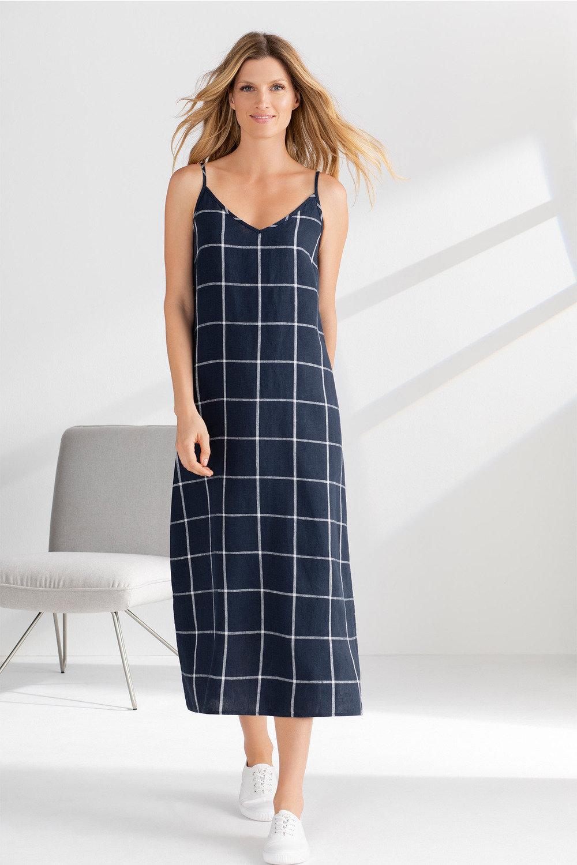 ec44b3e74469e Grace Hill Linen Slip Dress Online   Shop EziBuy