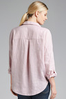 Grace Hill Linen Half Placket Shirt