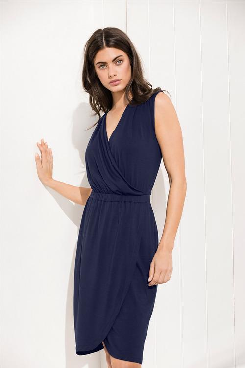 Capture Wrap Jersey Dress