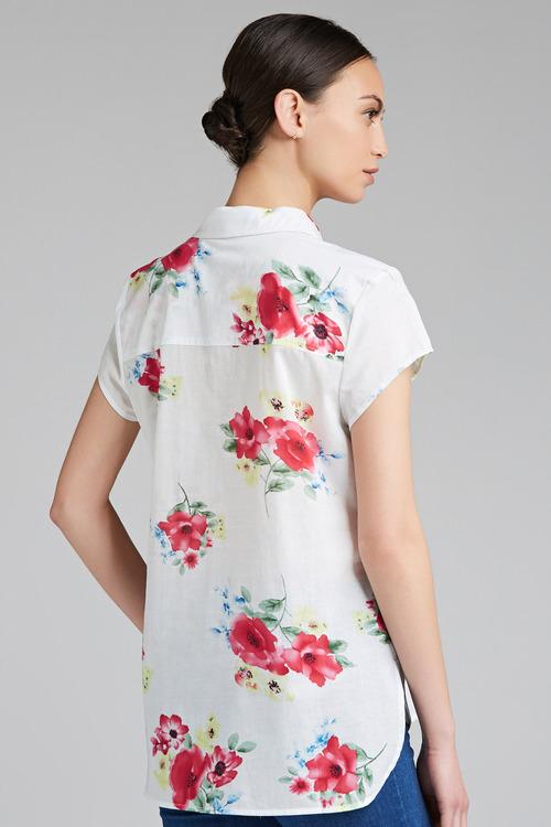 Capture Longline Cotton Voile Shirt