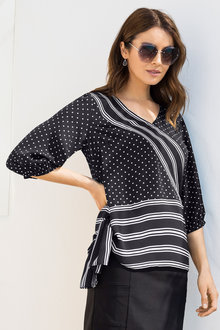Capture Asymmetric Detail Top - 205880