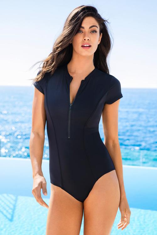 Quayside Cap Sleeve Swimsuit