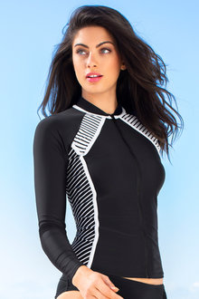 Quayside Zip Front Rash Top