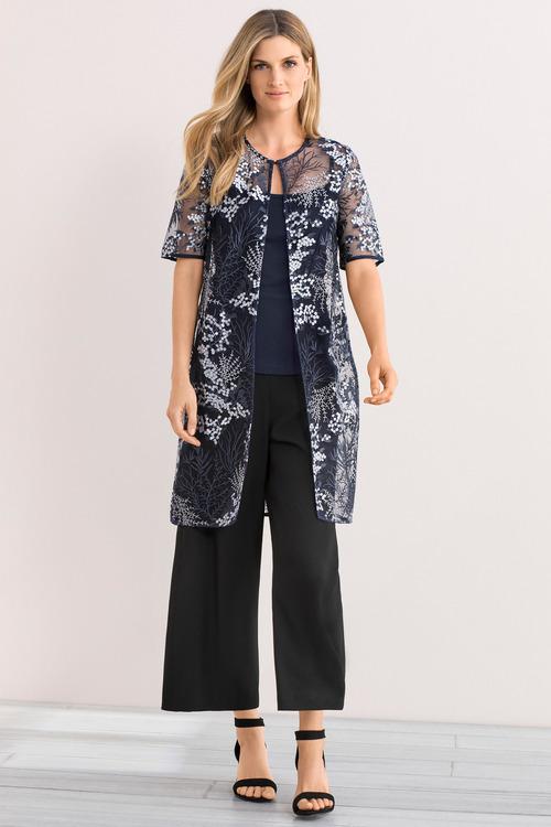 Grace Hill Embroidered Kimono