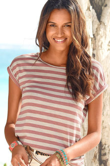 Urban Extended Sleeve Stripe Top