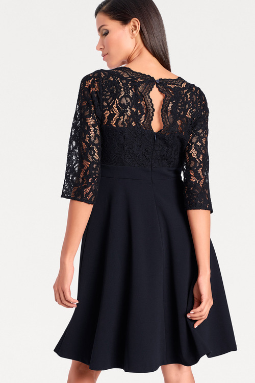 Heine Lace Fit & Flare Dress