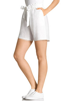 Capture Linen Trim Detail Short - 206081