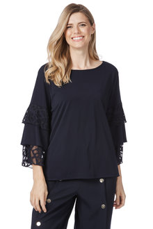 Table Eight Ivy 3/4 Sleeve Knit Top