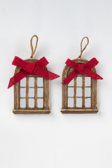 Christmas Window Ornaments Set of Two