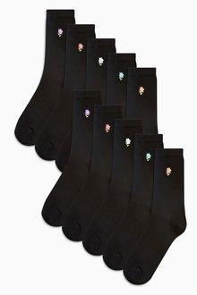 Next Daisy Motif Ankle Socks Ten Pack