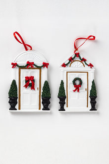 Christmas Front Door Ornaments Set of Two