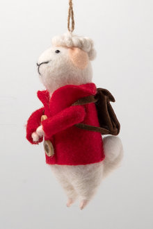 Felt Sheep with Buttons Ornament