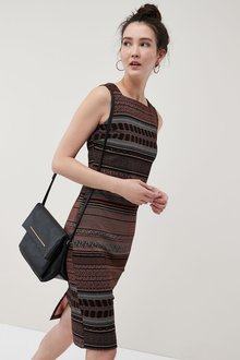 Next Stripe Jacquard Dress - Tall