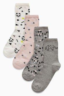 Next Aloha Ankle Socks Five Pack
