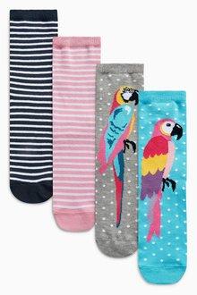 Next Parrot Stripe Ankle Socks Five Pack