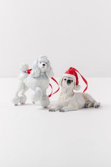 Christmas Dog Ornaments Set 2