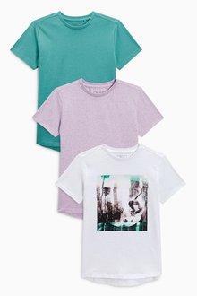 Next Graphic T-Shirts Three Pack (3-16yrs)