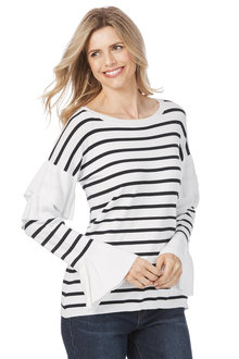 Rockmans Long Sleeve Ruffle Knit