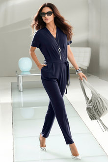 Euro Edit V Neck Jumpsuit