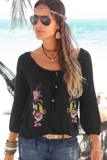 Urban Tassel Lace Trim Top