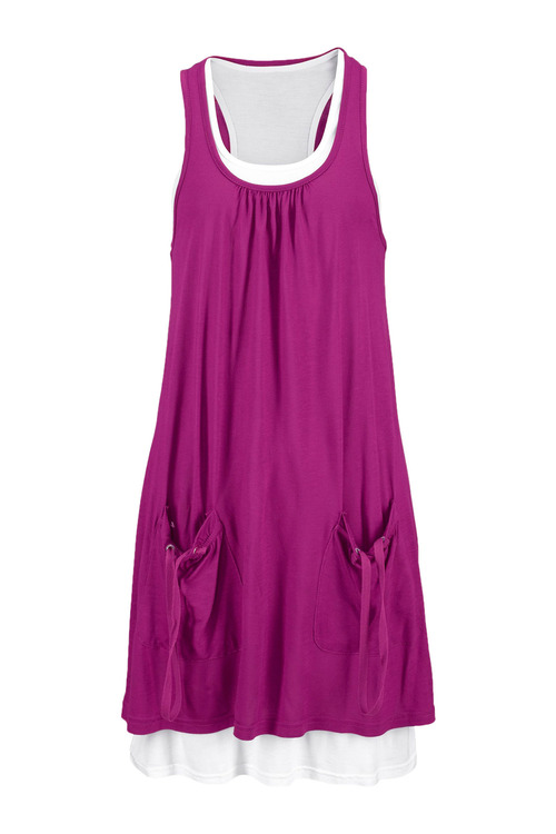 Urban Double Layer Pocket Dress
