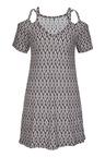 Urban Cold Shoulder Swing Dress