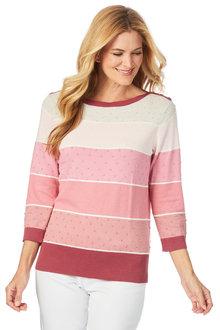W.Lane Dot Stripe Sweater