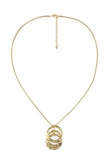 Amber Rose Triple Circle Pendant