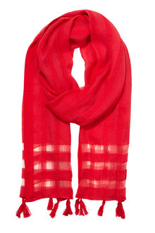 W.Lane Tassle Trim Scarf