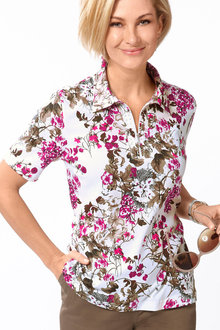 Capture European Floral Print Top
