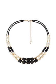 Amber Rose Double Strand Stone Necklace