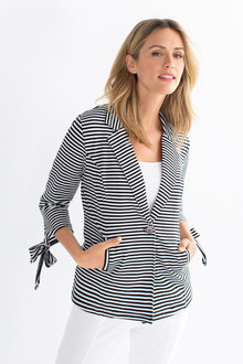 Capture Jersey Blazer with Sleeve Detail