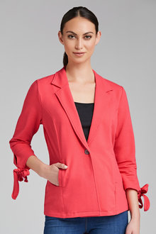 Capture Jersey Blazer with Sleeve Detail - 206389