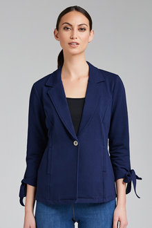 Capture Jersey Blazer with Sleeve Detail