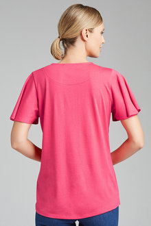 Capture Ruffle Sleeve Tee - 206391