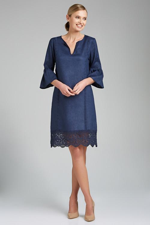Grace Hill Linen & Lace Dress