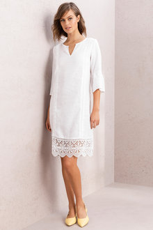Grace Hill Linen & Lace Dress