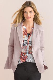 Grace Hill Linen Blend Blazer - 206405
